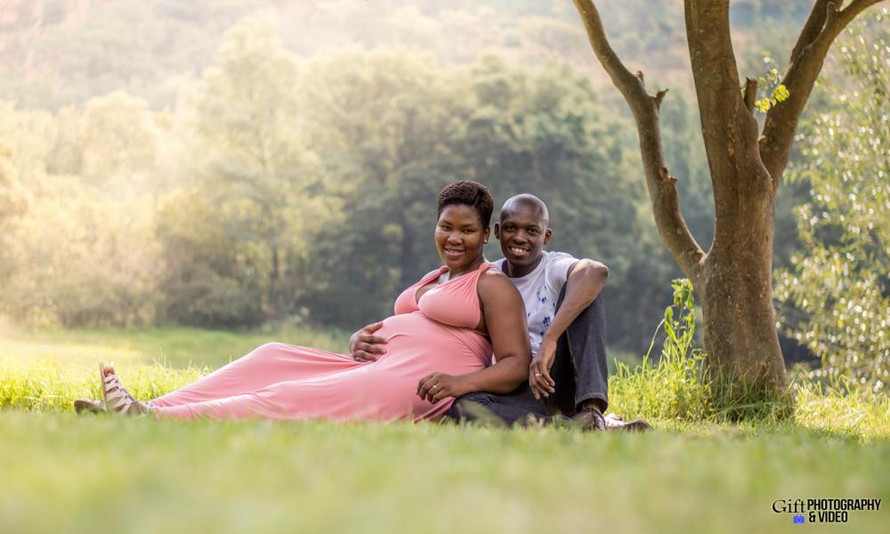 Dineo & Matli - Location Maternity Shoot - Little Falls-1
