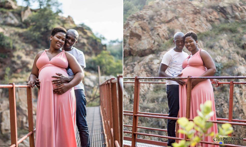 Dineo & Matli - Location Maternity Shoot - Little Falls-11