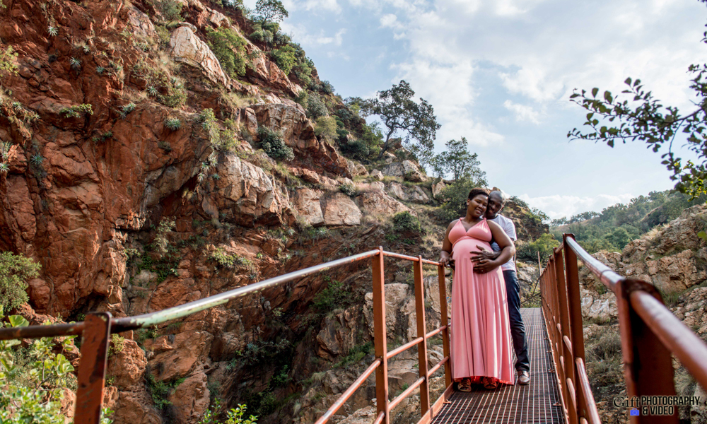 Dineo & Matli - Location Maternity Shoot - Little Falls-14