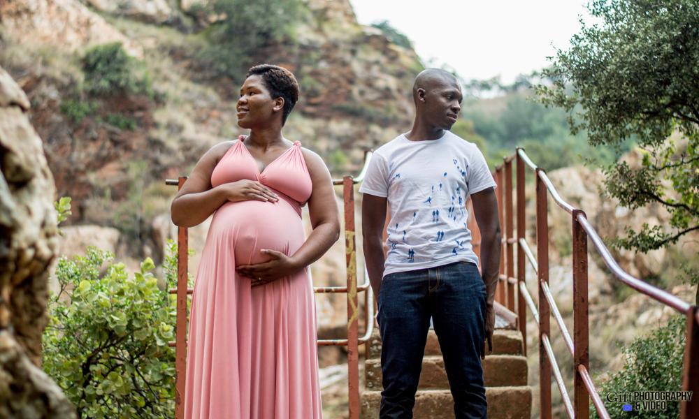 Dineo & Matli - Location Maternity Shoot - Little Falls-16