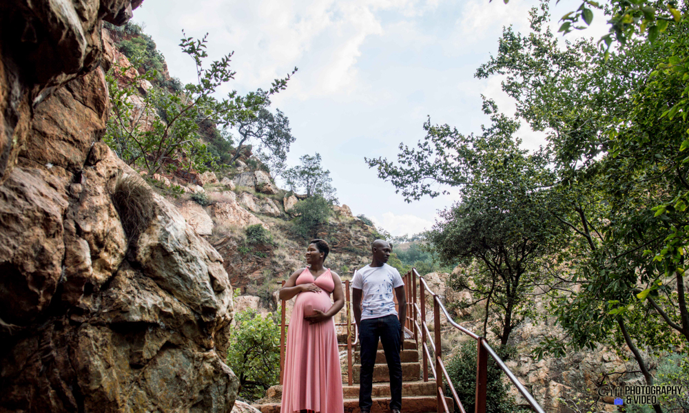 Dineo & Matli - Location Maternity Shoot - Little Falls-18