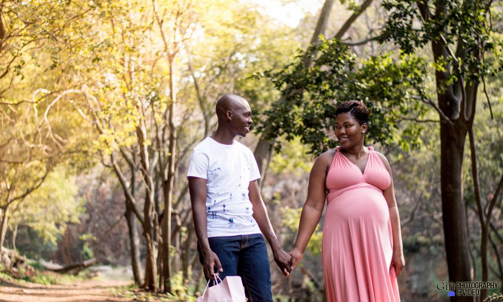 Dineo & Matli - Location Maternity Shoot - Little Falls-20