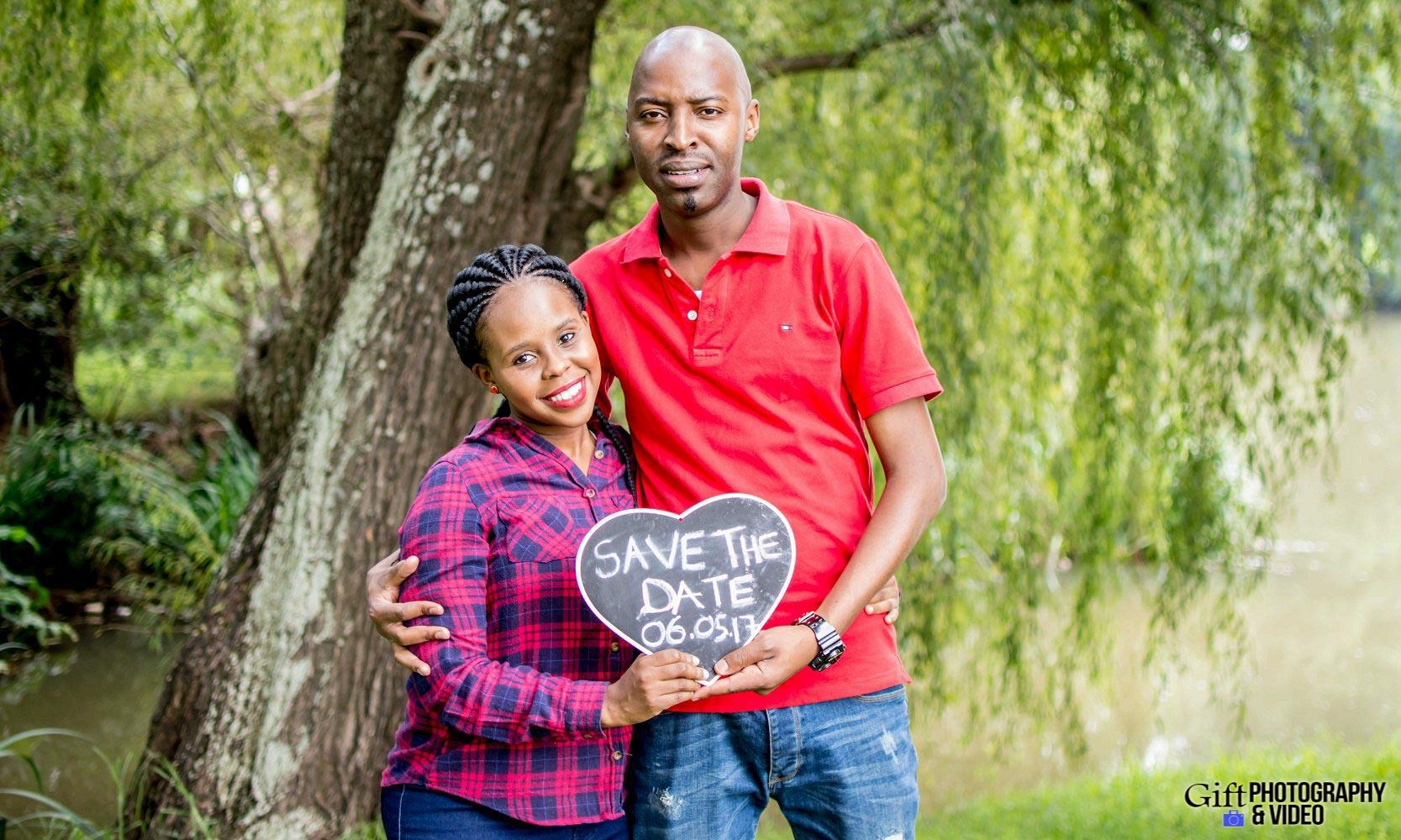 Naledi & Bongani Engagement Shoot Zoo Lake-12