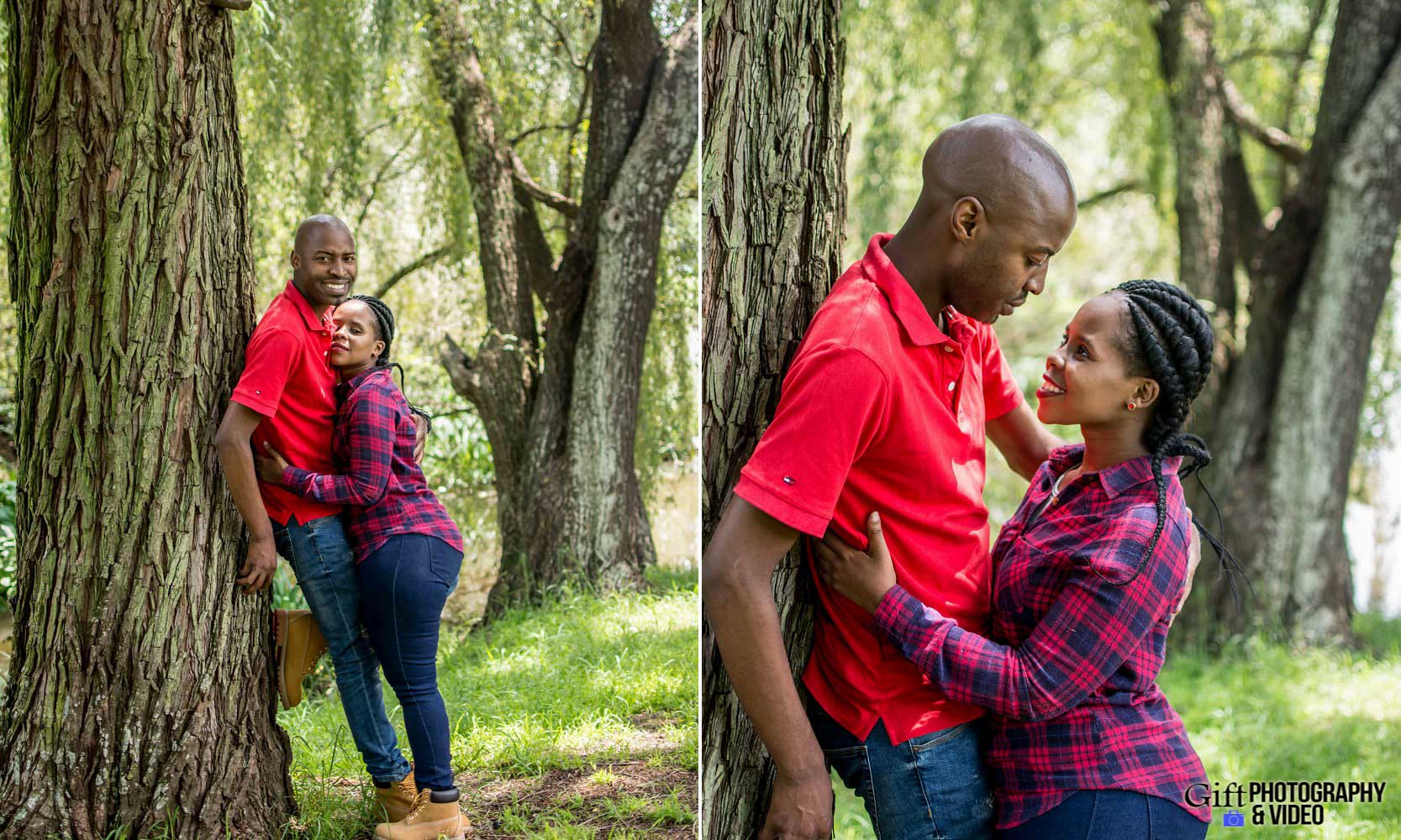 Naledi & Bongani Engagement Shoot Zoo Lake-9