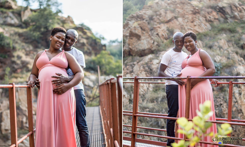 Dineo & Matli - Location Maternity Shoot - Little Falls-11