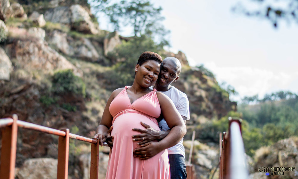 Dineo & Matli - Location Maternity Shoot - Little Falls-12