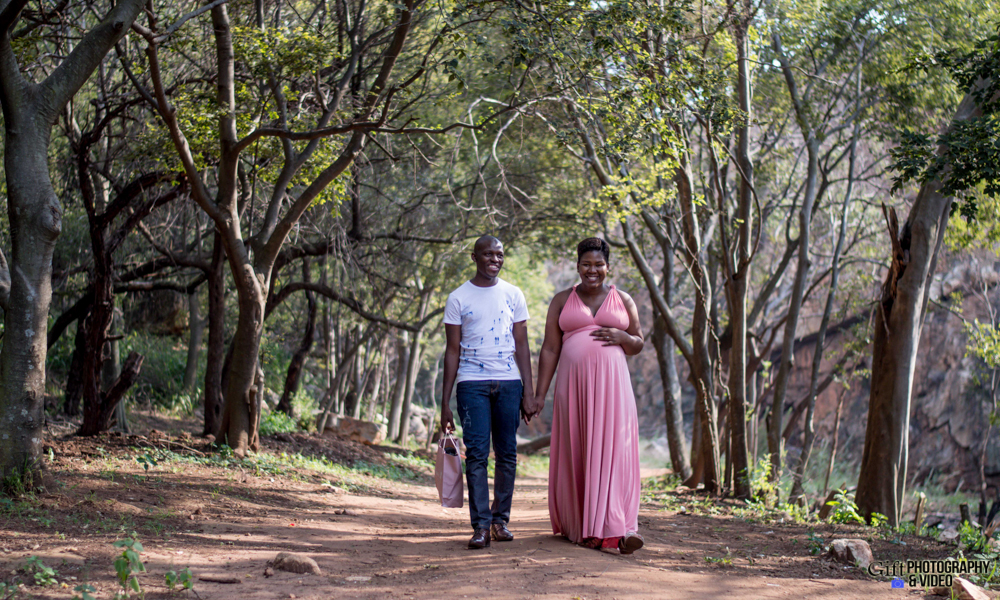 Dineo & Matli - Location Maternity Shoot - Little Falls-19