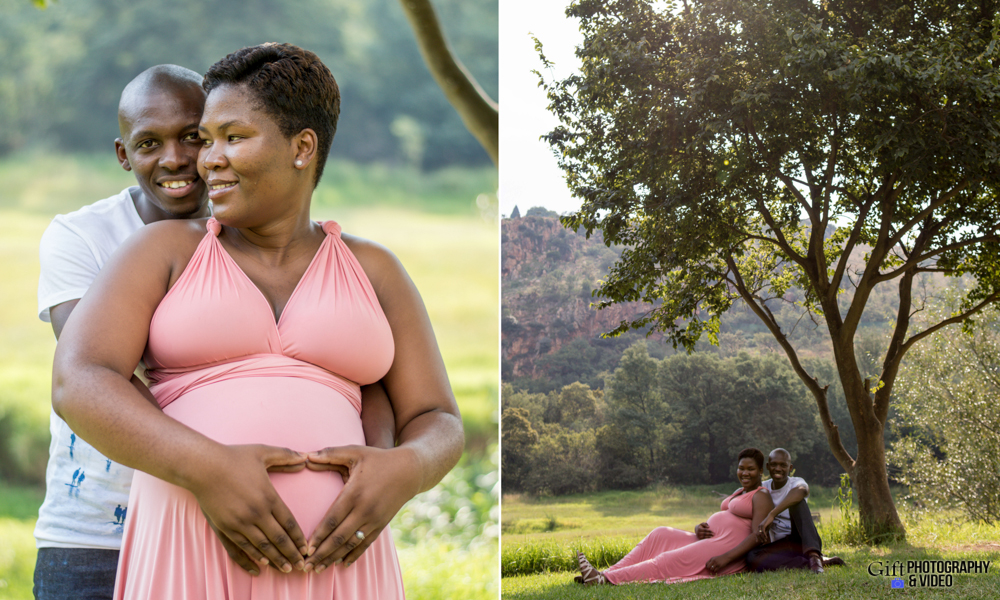 Dineo & Matli - Location Maternity Shoot - Little Falls-2