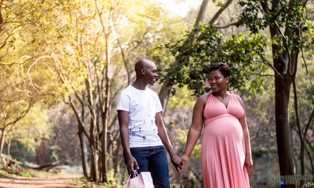 Dineo & Matli - Location Maternity Shoot - Little Falls-20