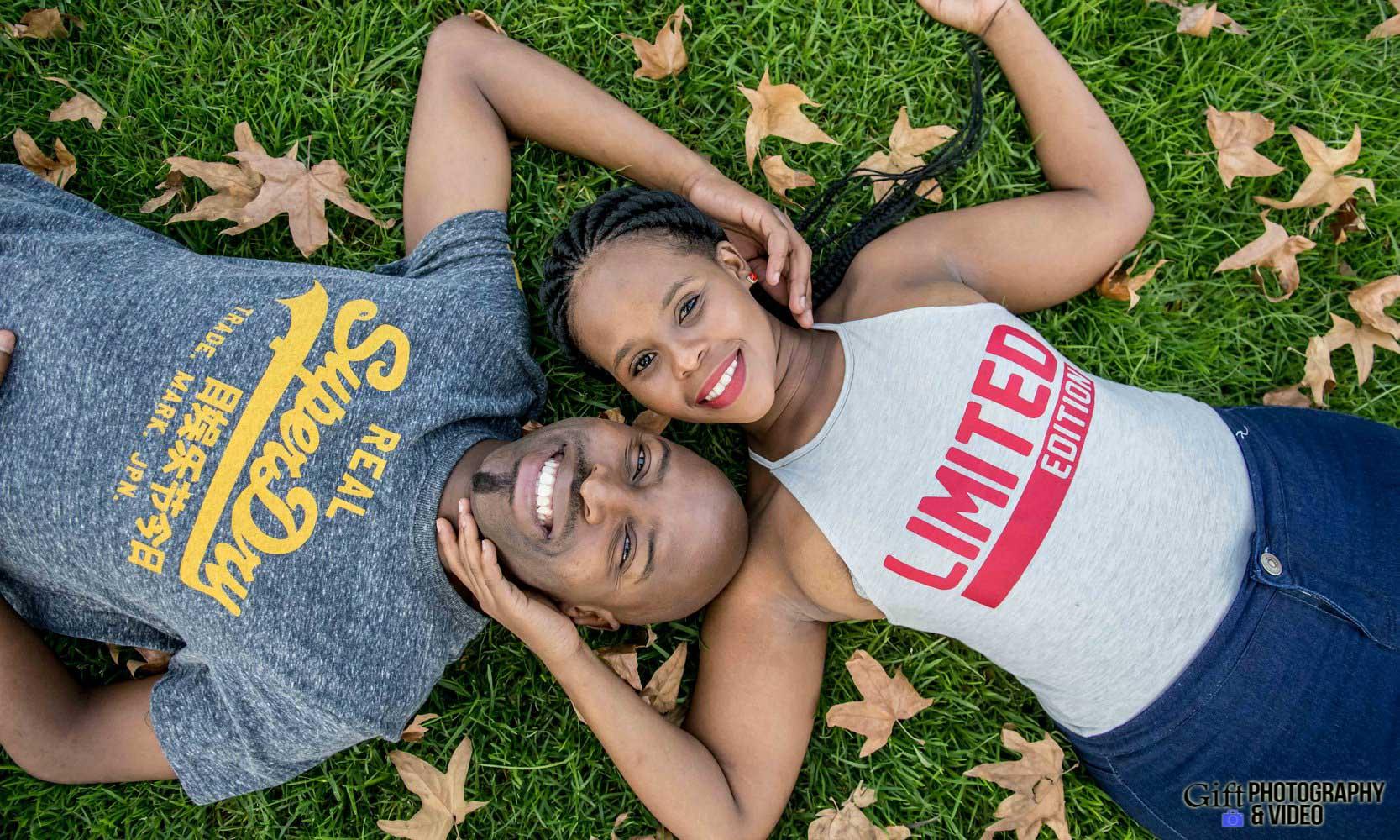 Naledi & Bongani Engagement Shoot Zoo Lake-1