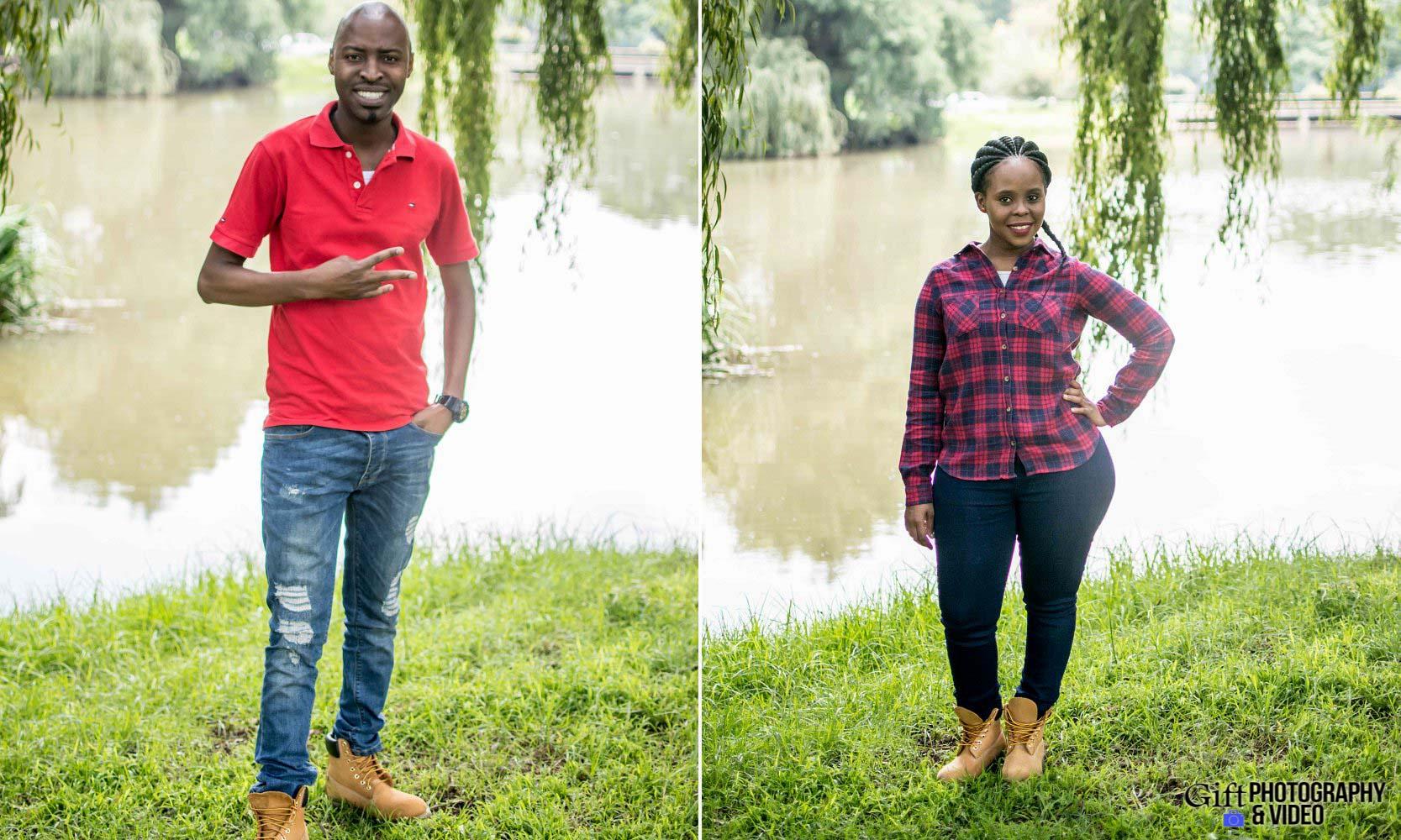 Naledi & Bongani Engagement Shoot Zoo Lake-11