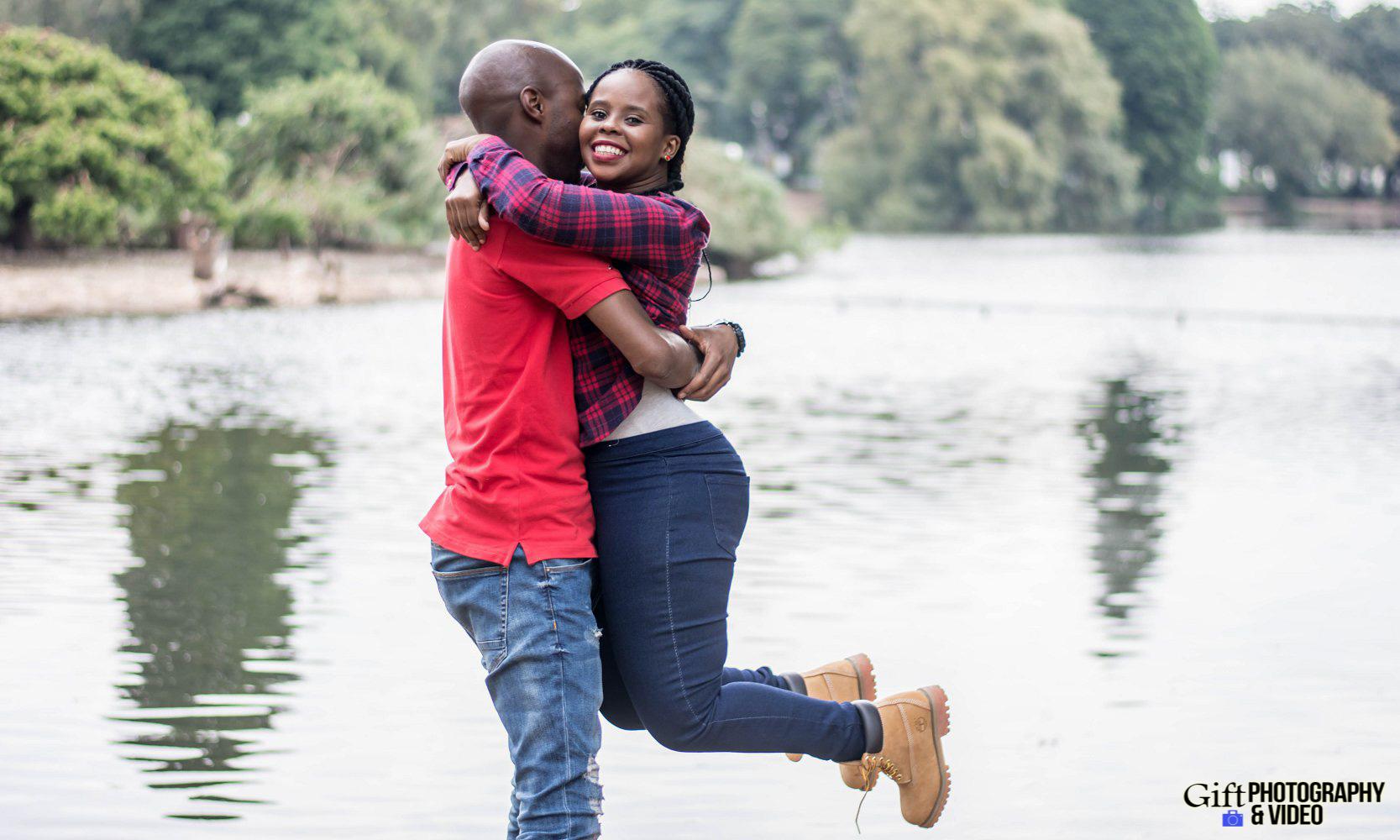 Naledi & Bongani Engagement Shoot Zoo Lake-13