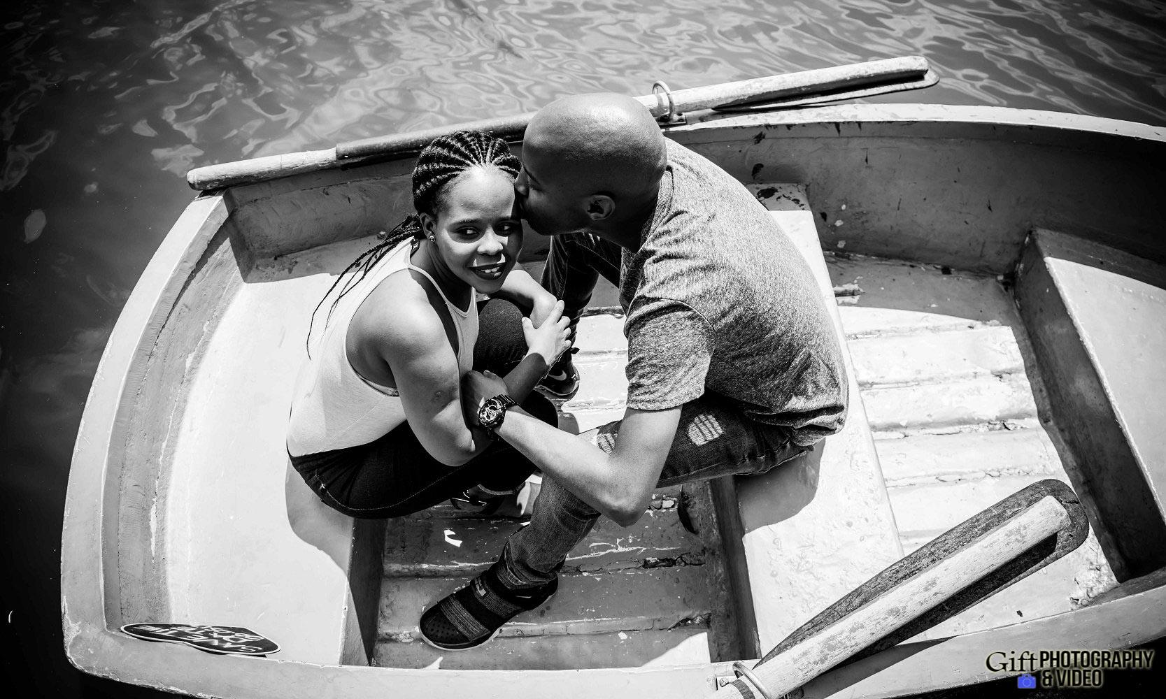 Naledi & Bongani Engagement Shoot Zoo Lake-16