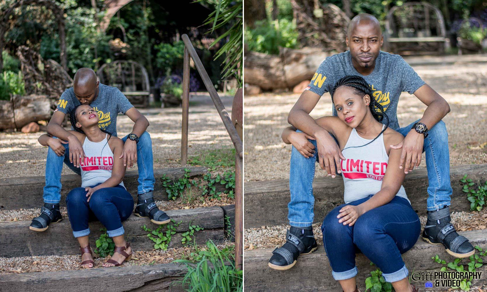 Naledi & Bongani Engagement Shoot Zoo Lake-19