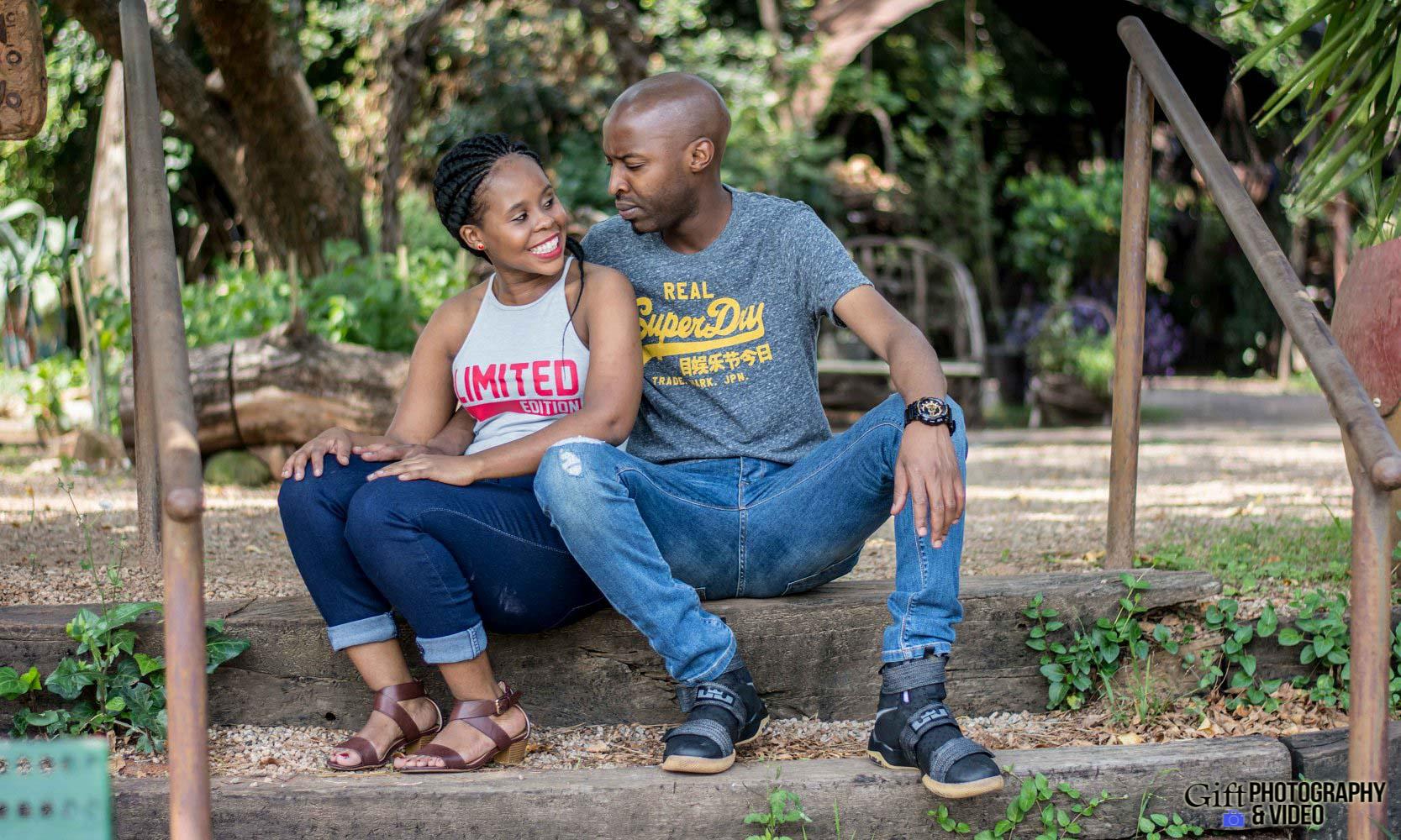 Naledi & Bongani Engagement Shoot Zoo Lake-20